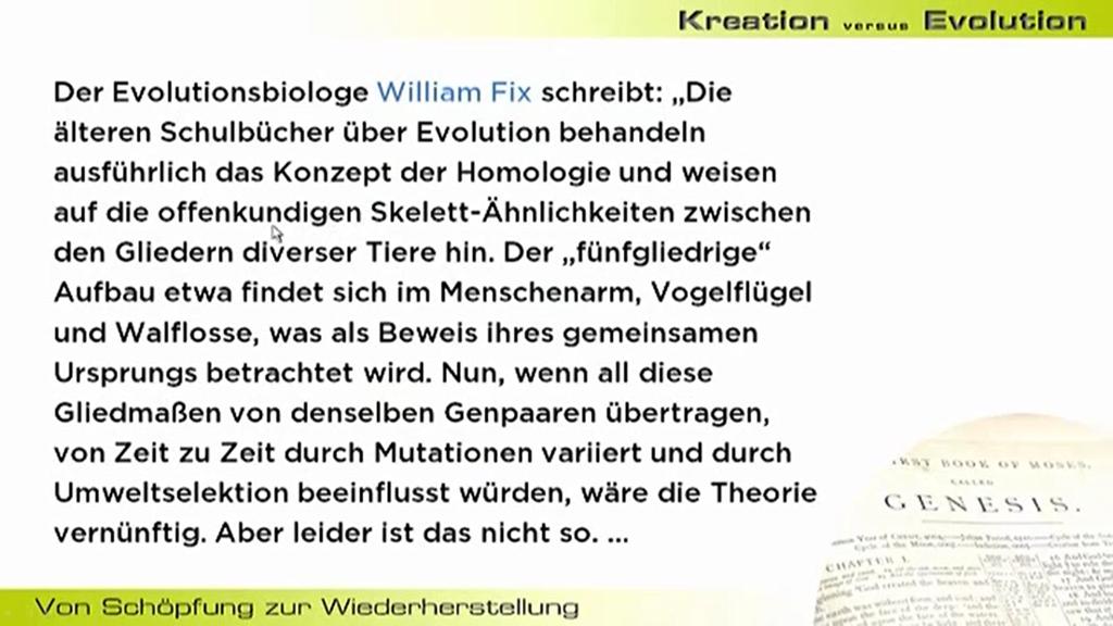 widerlegung der evolutionstheorie